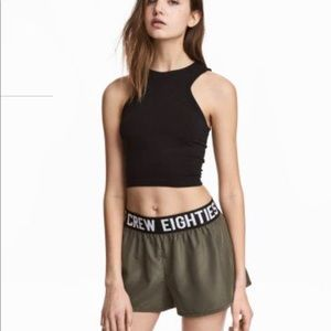 H&M Boxer Look Shorts (bnwt) and Halter Crop